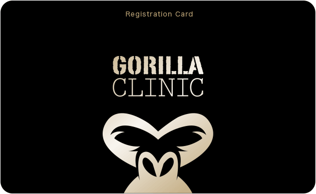 Registration Card / GORILLA CLINIC